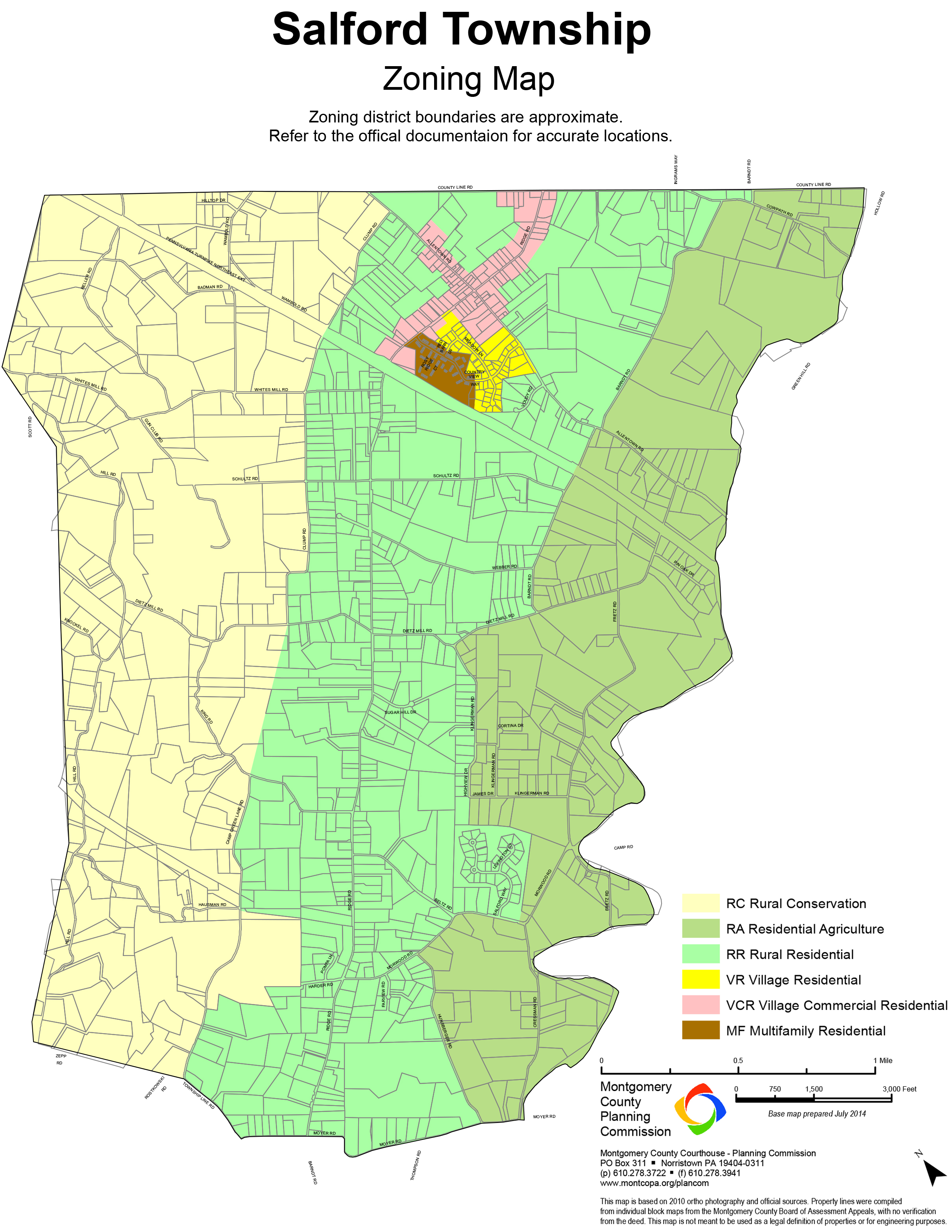 Salford Township Montgomery County Pennsylvania Zoning